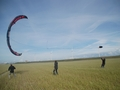 Manually controlled and ground crew assisted landing of the kite for demonstration purposes