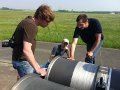 Roland Schmehl (TU Delft), Sören Sieberling (Ampyx-Power) and Christian Gebhard (EnerKite),  from left to right