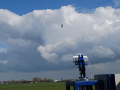 Cross-wind operation of the TU Delft kite observed from the ground station